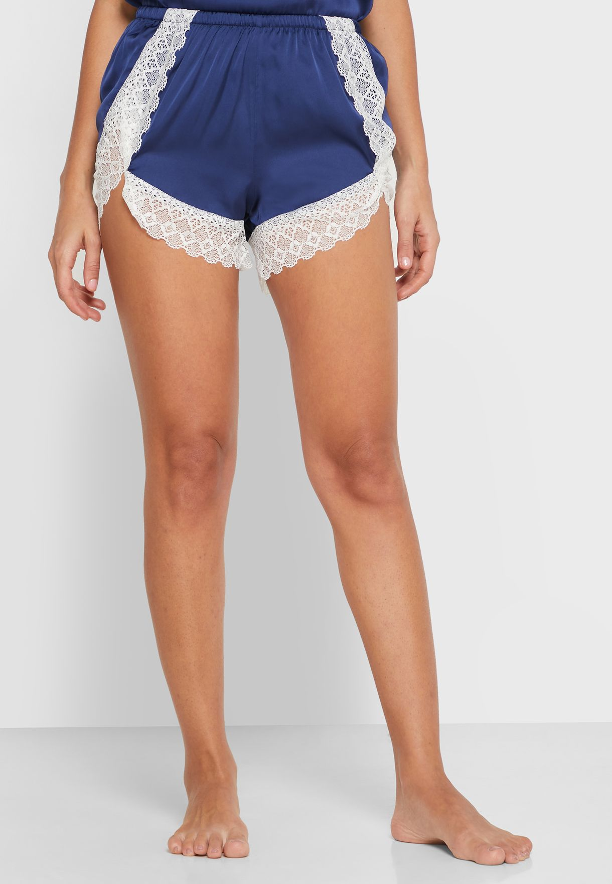 4 Pcs Lace Trim Nightwear Set