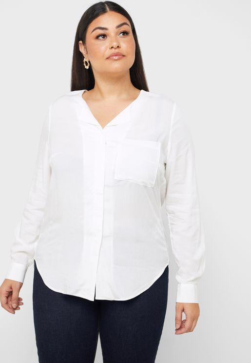 قميص باطراف غير متماثلة