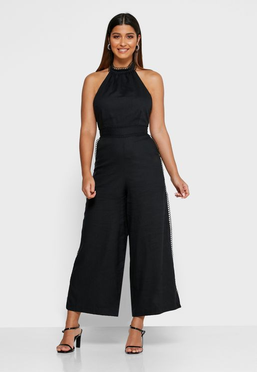 Everlasting High Neck Wide Leg Jumpsuit