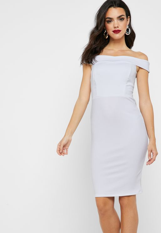 Bardot Printed Bodycon Dress