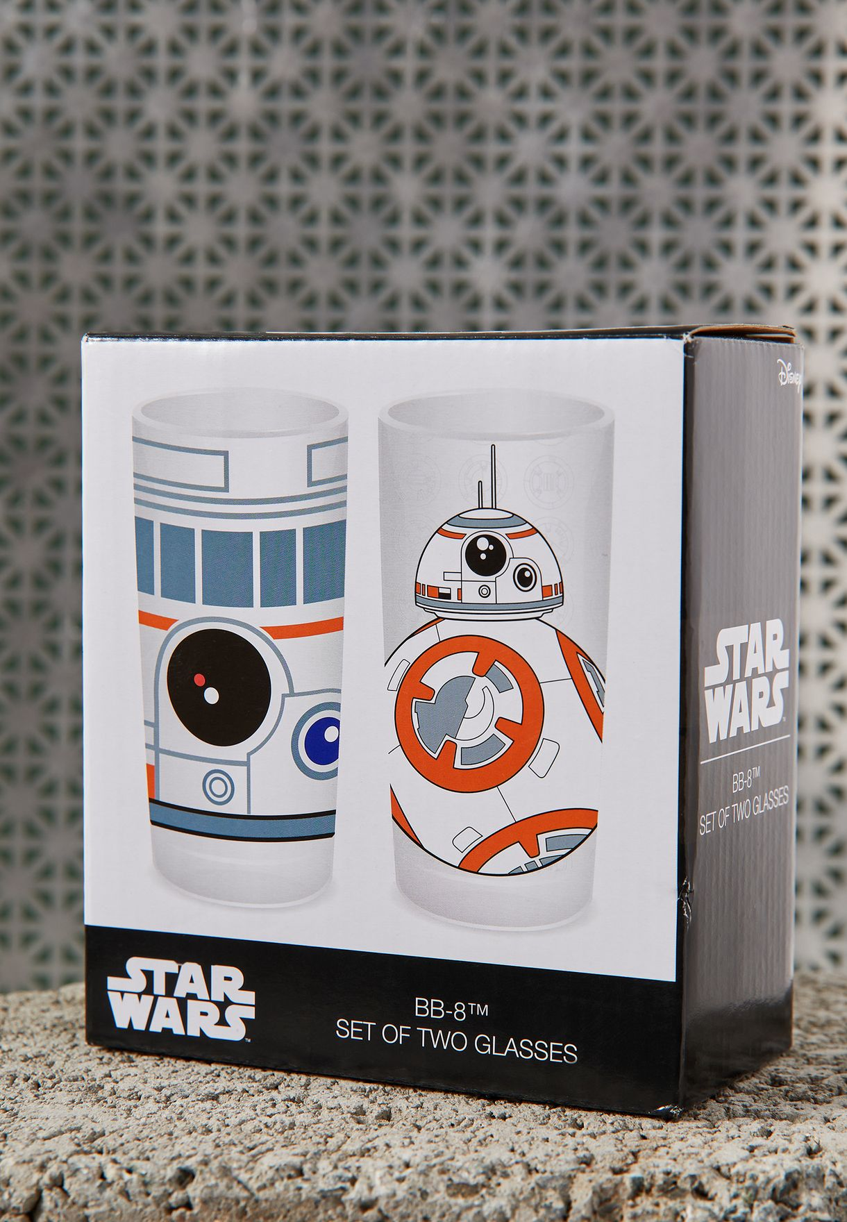 Set Of 2 Star Wars BB-8 Glass