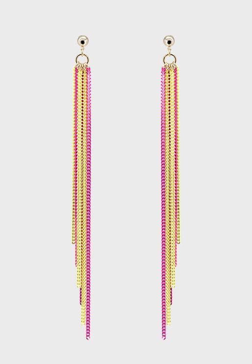 Multi Strand Drop Earrings