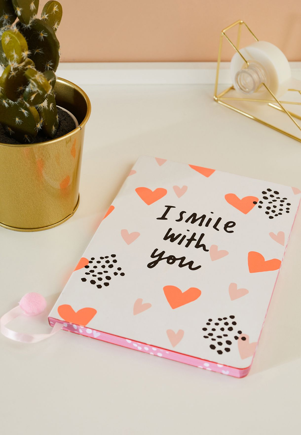 A5 Rubber Charm Wink Notebook