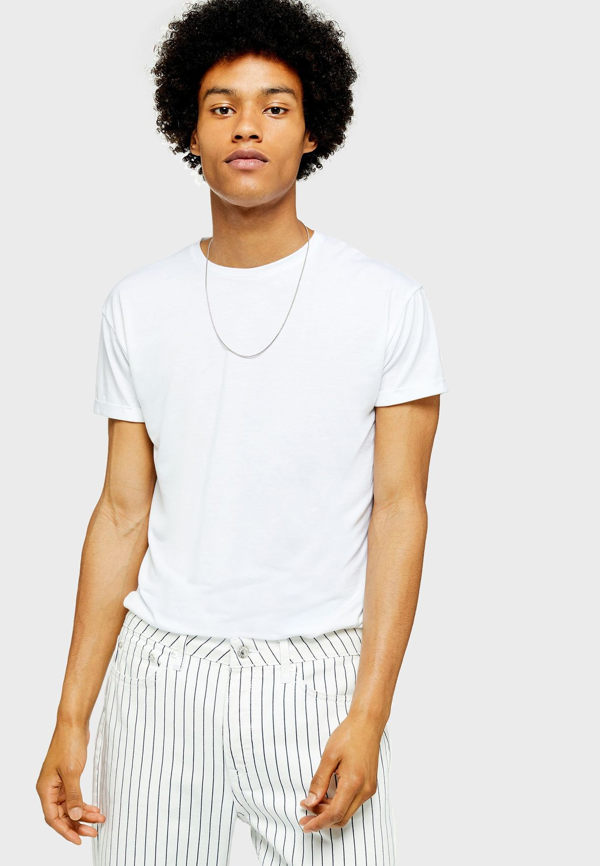 f710043f Shop Topman white Scotty Longline T-Shirt 71Q07SWHT for Men in UAE ...