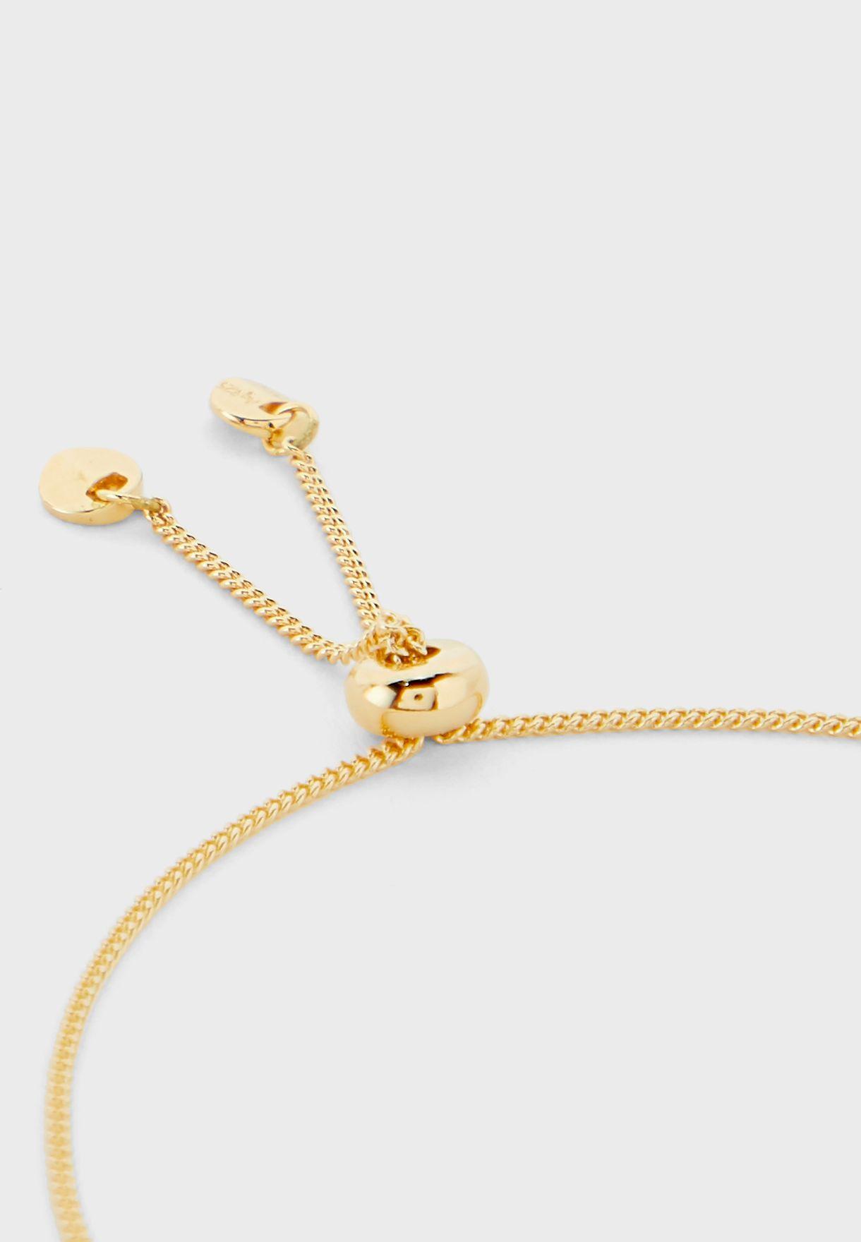 Logo Stone Detail Bracelet