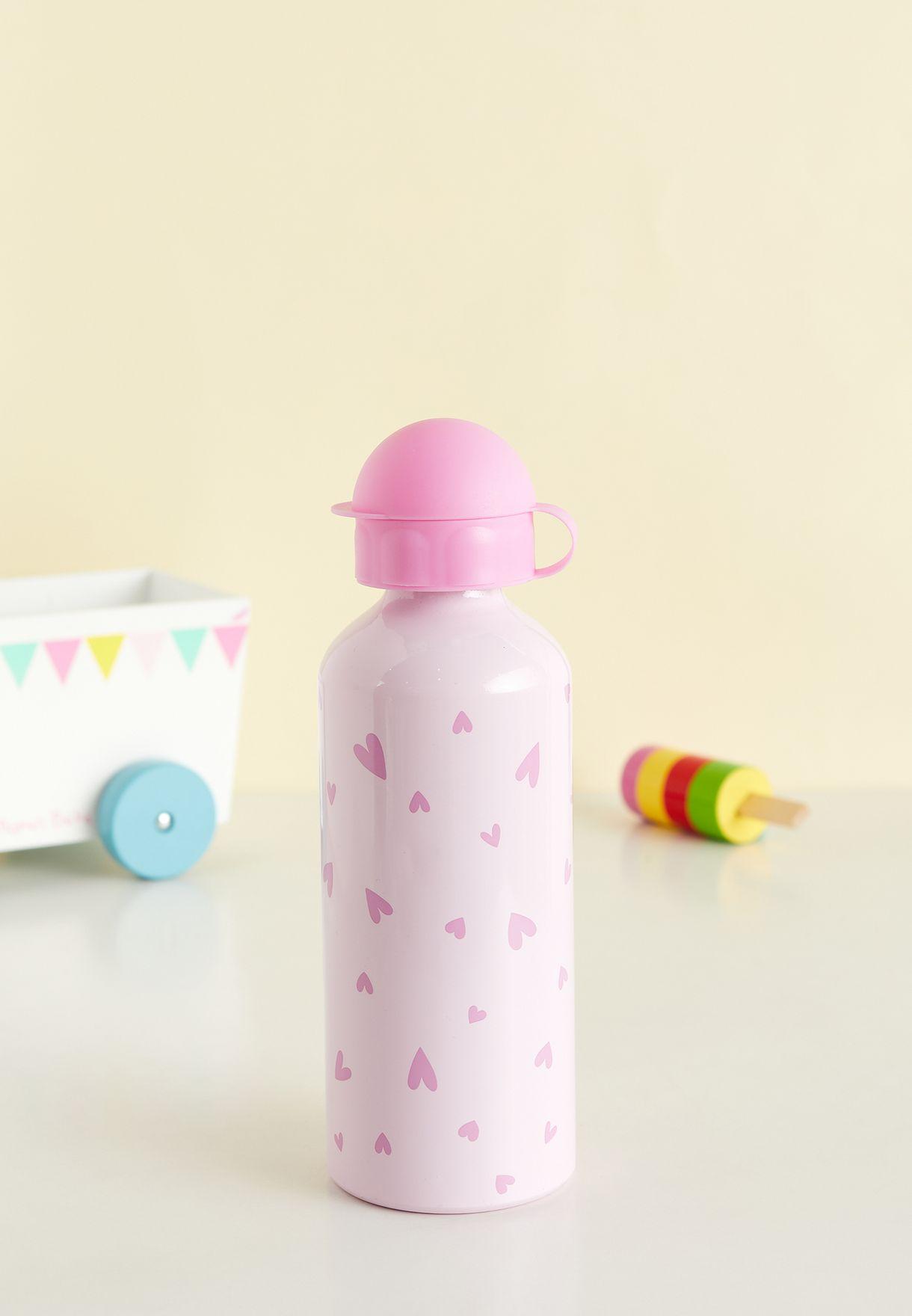 Heart Aluminium Water Bottle