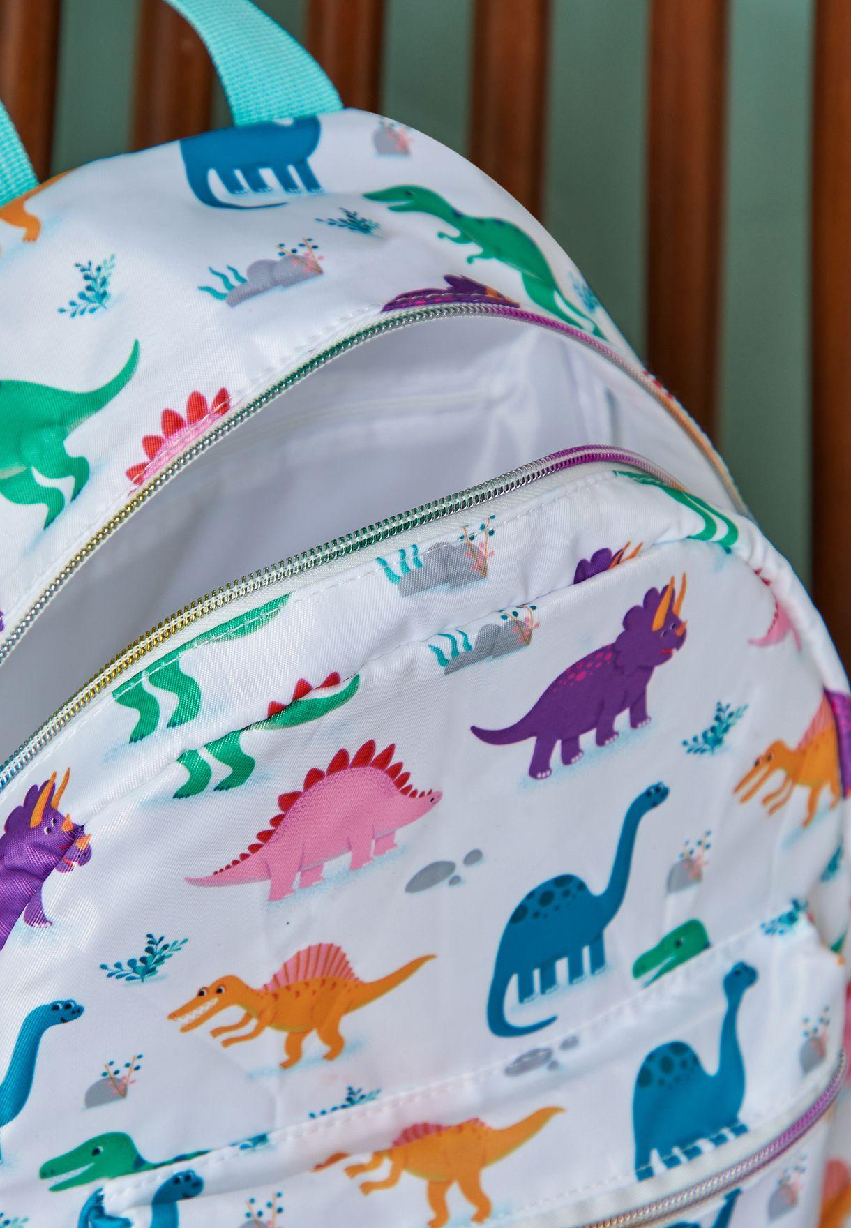 مجموعة العودة إلى المدرسة بطبعة ديناصورات
