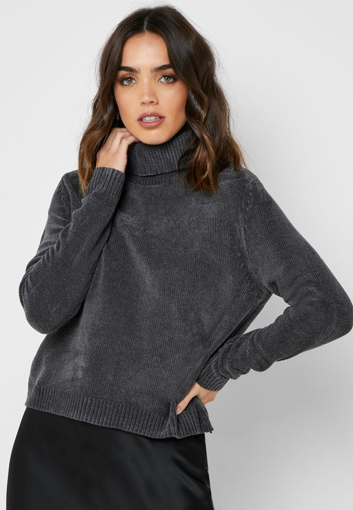 Highneck Chenile Sweater