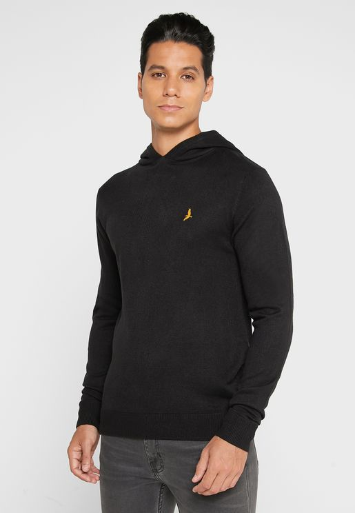 Knitted Ribbed Hoodie