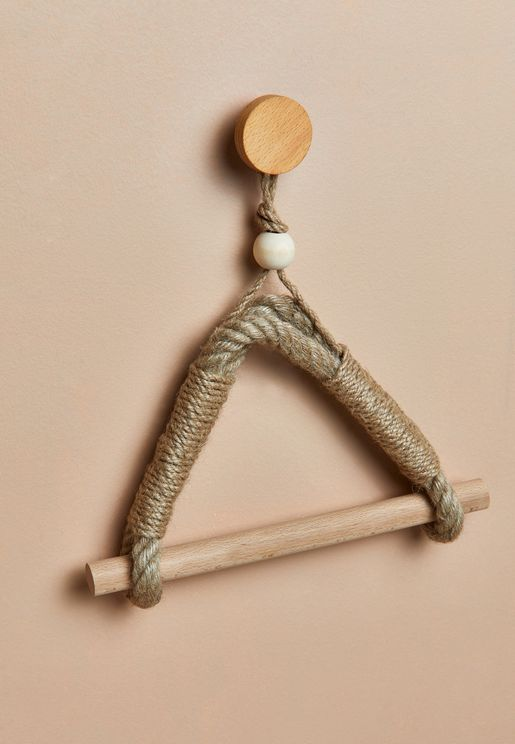 Antique Rope Style Jute Towel & Tissue Roll Holder