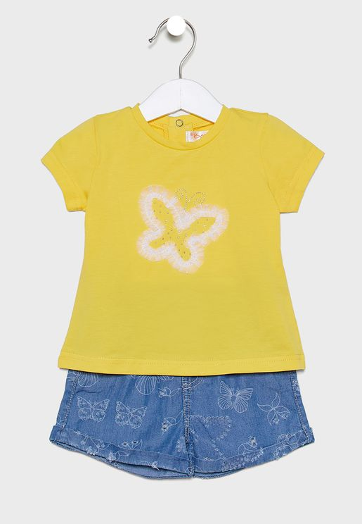 Infant Graphic T-Shirt + Short Set