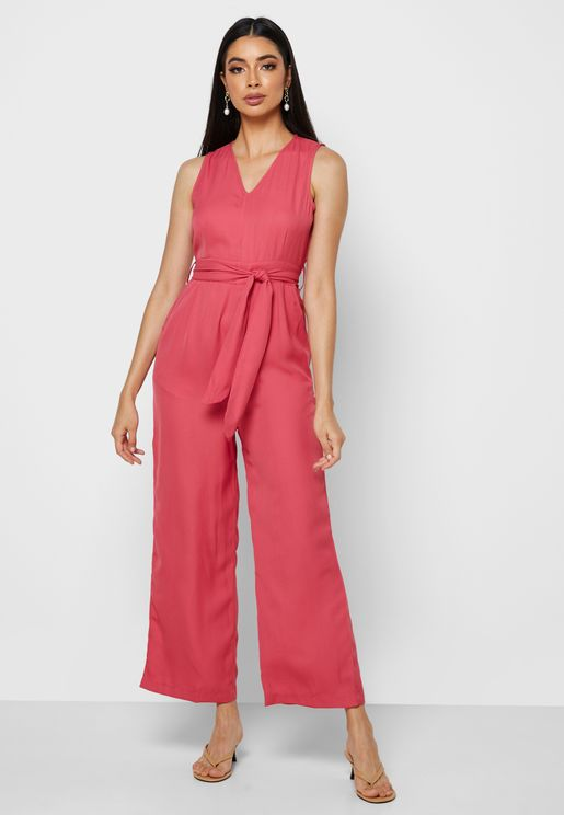 Belted Cami Jumpsuit