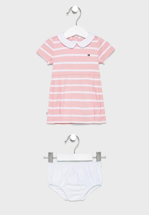 فستان مخطط للرضع