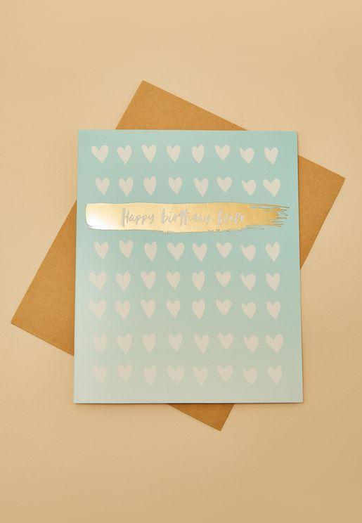Nice Lover Birthday Card