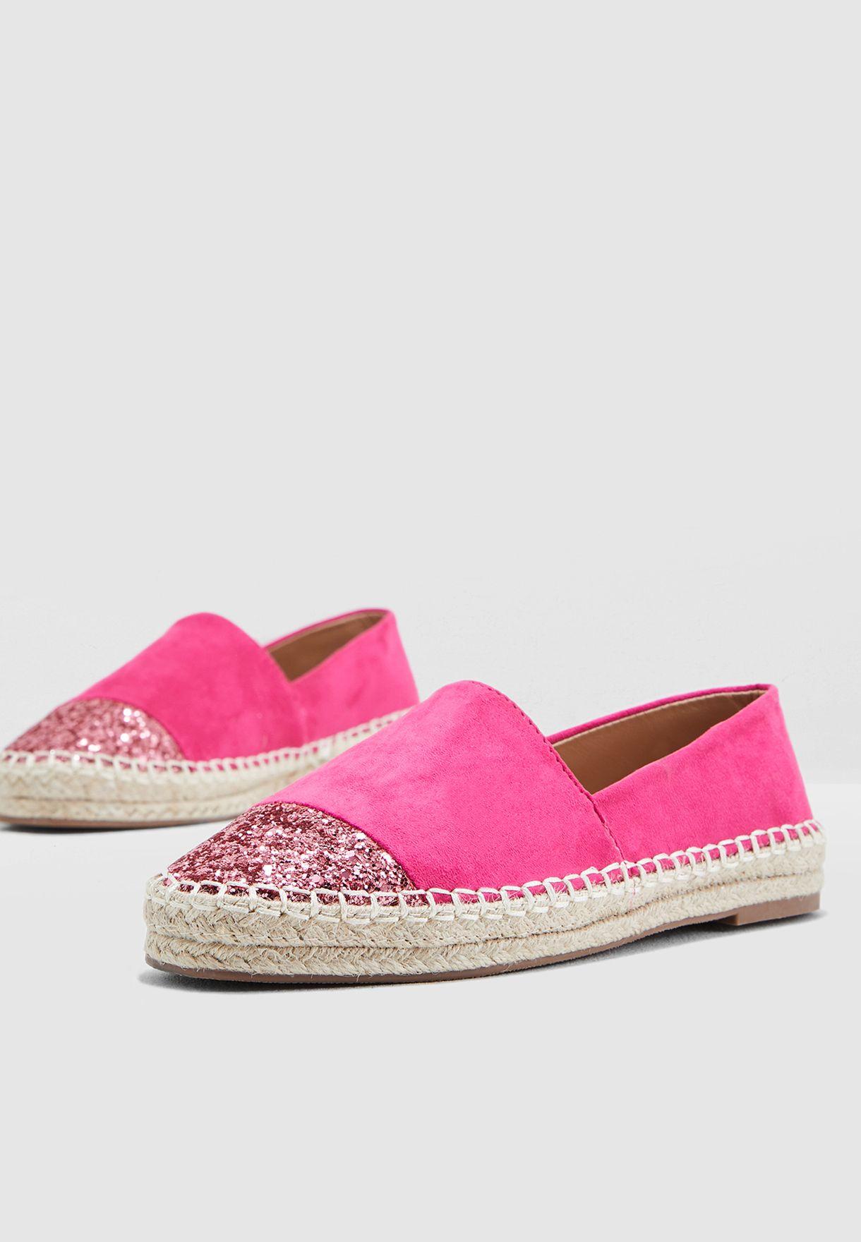 9e6150bf0ab Espadrilles With Glitter Toe