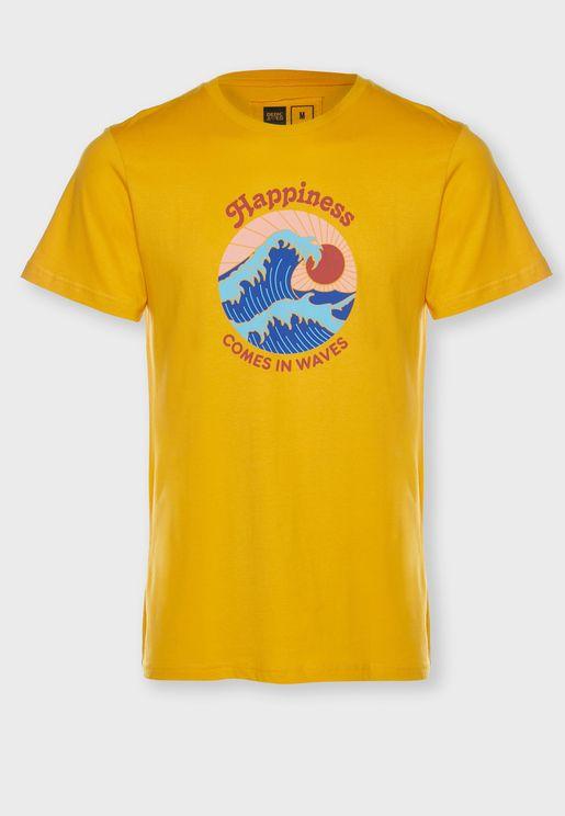 Happiness Crew Neck T-Shirt