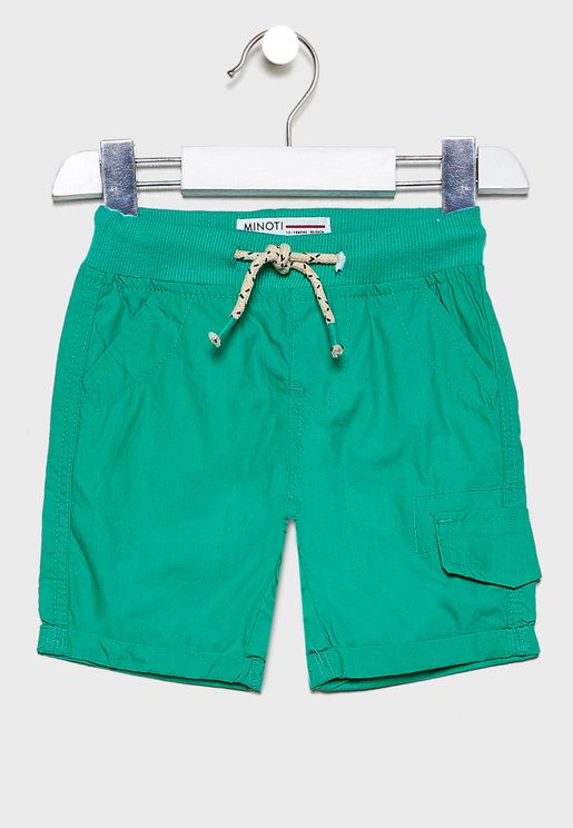 Little Roll Hem Tie Waist Shorts