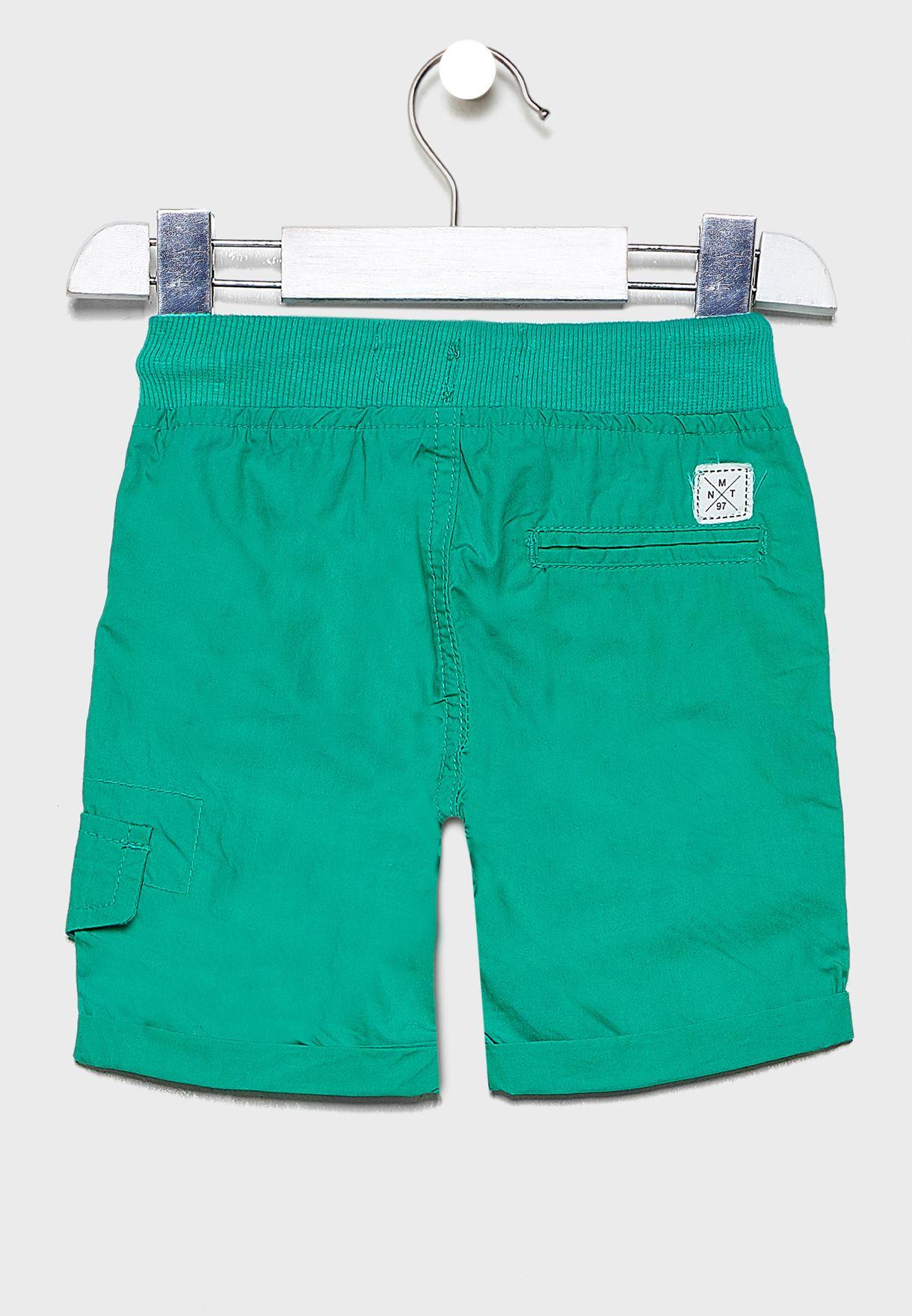 Little Roll Hem Tie Waist Shorts