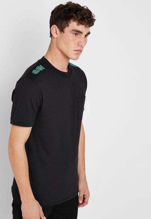 Ashers Chest Pocket Crew Neck T- Shirt