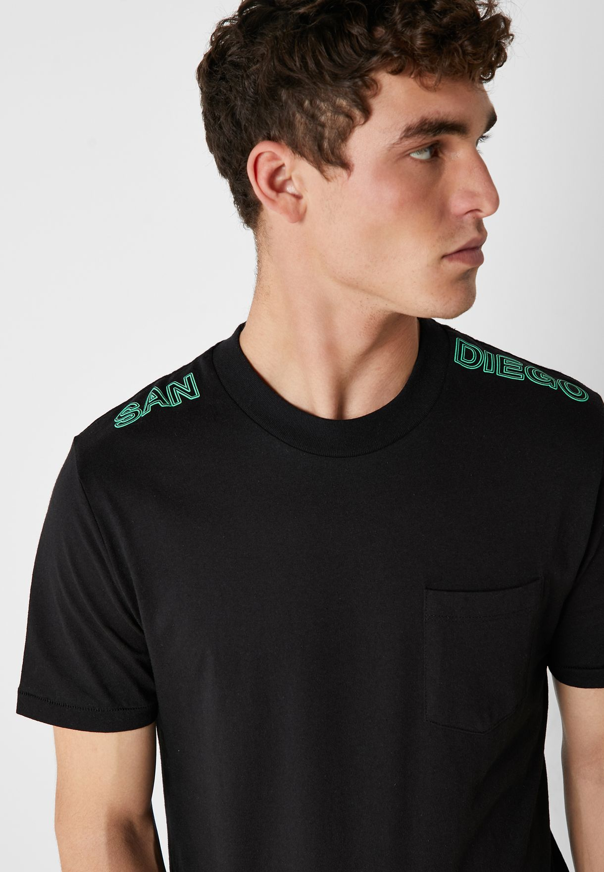 Ashers Chest Pocket Crew Neck T- Shirt