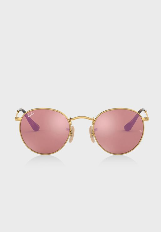 0RB3447N Round Sunglasses