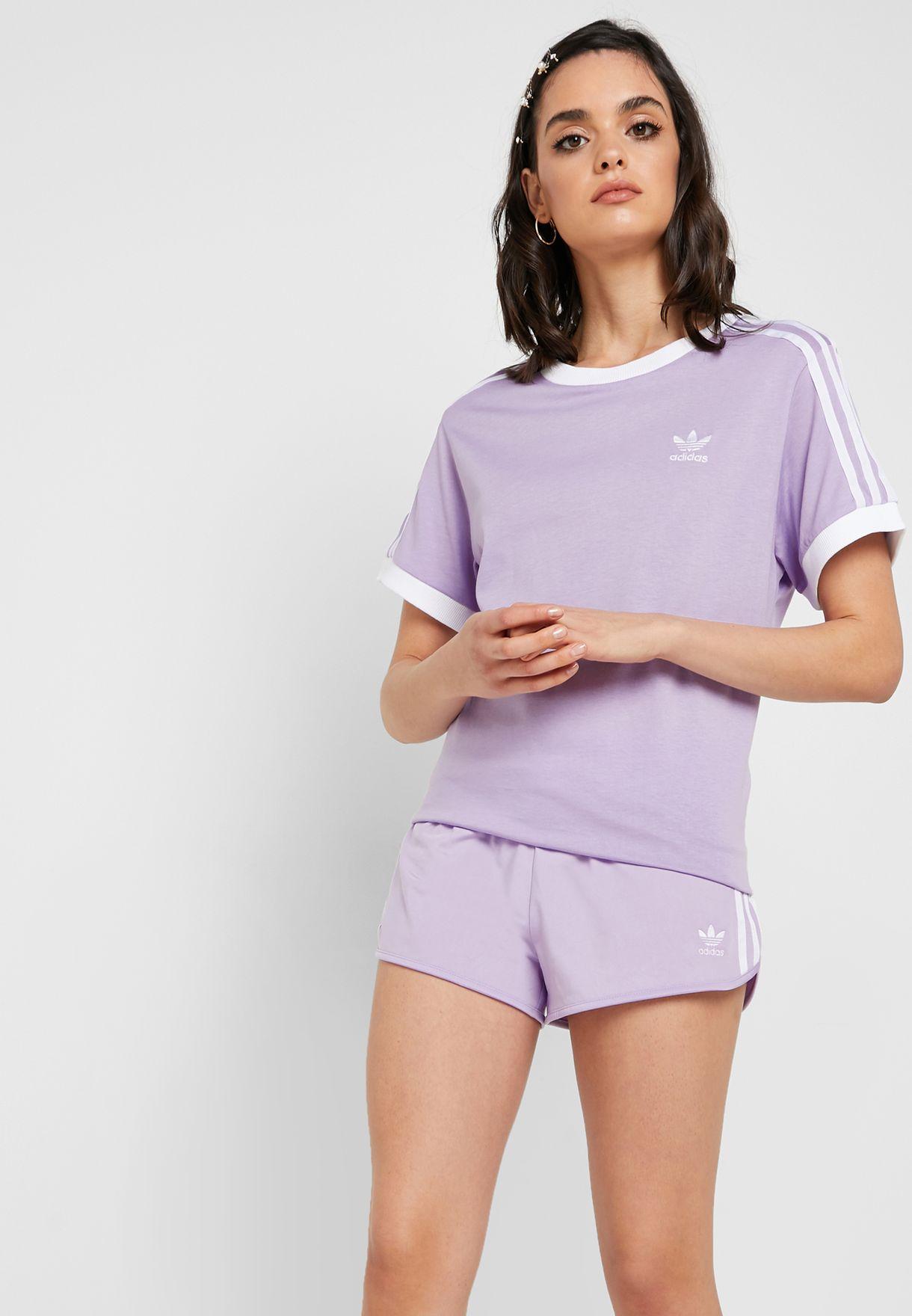 adidas shorts lilac