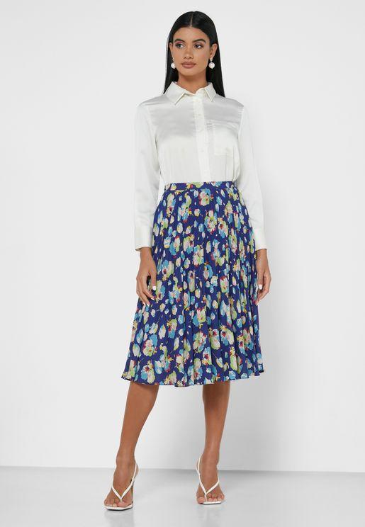 Devonte Floral Print Skirt
