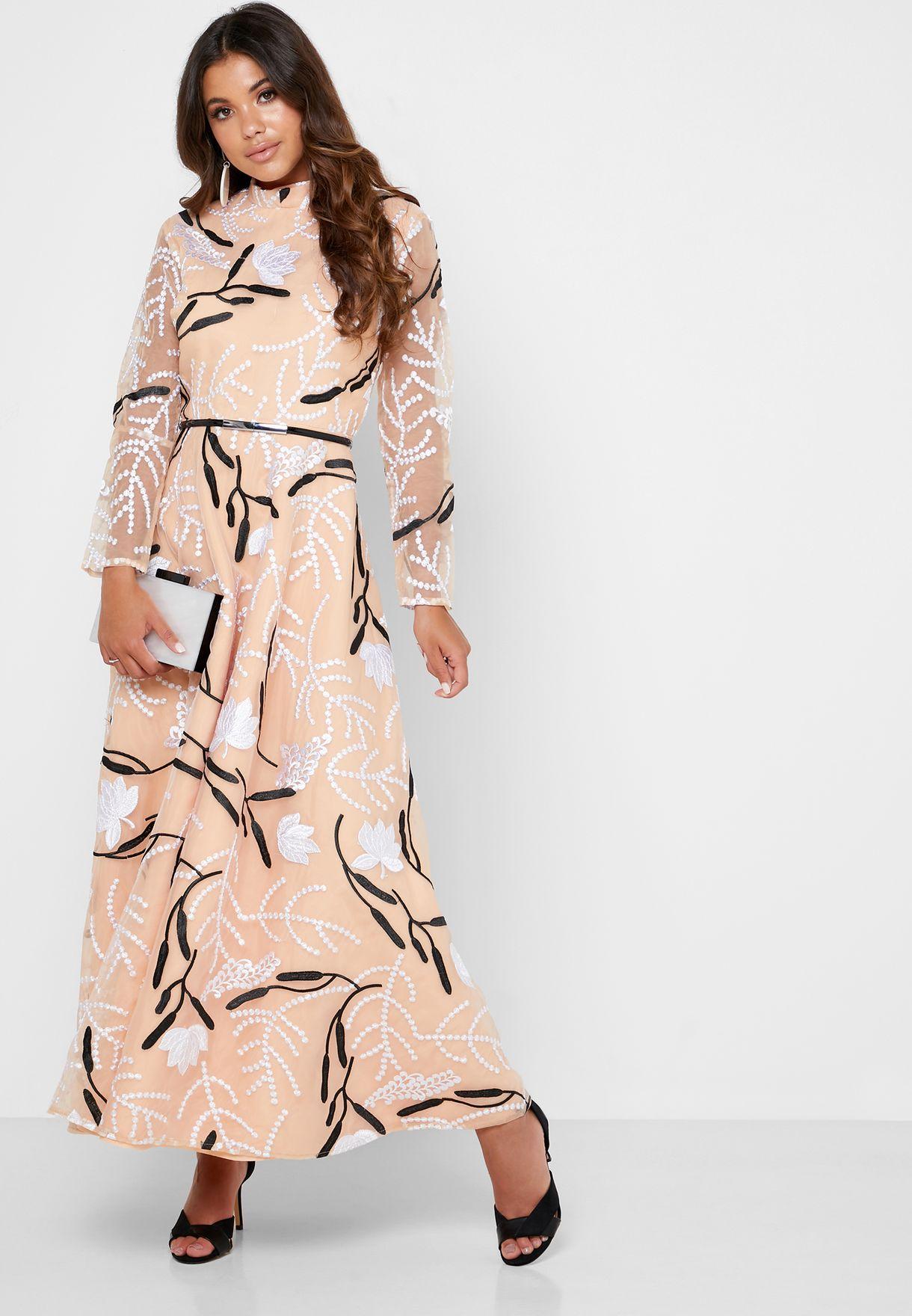 فستان اورجانزا مطرز