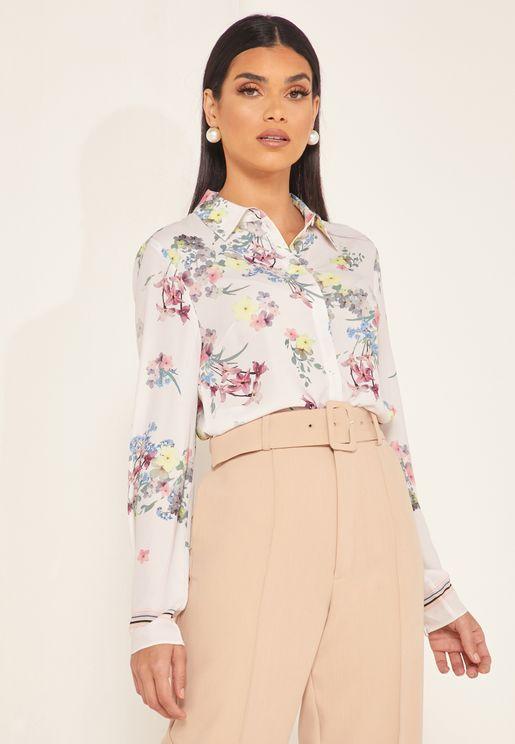 Aadele Floral Print Shirt