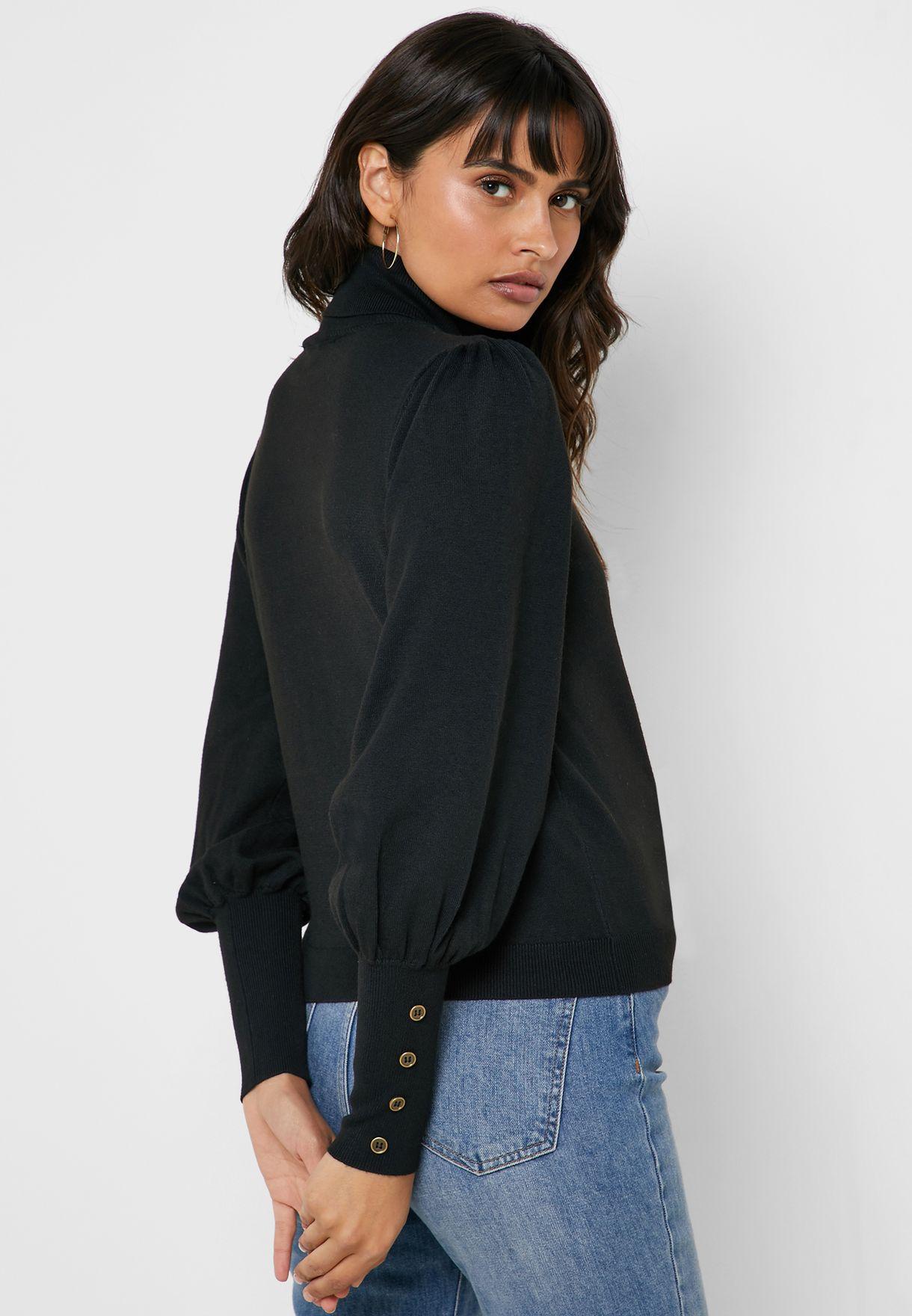 Cuffed Roll Neck Sweater