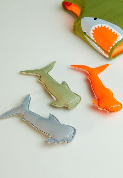 Kids Set Of 3 Shark Attack Dive Buddies