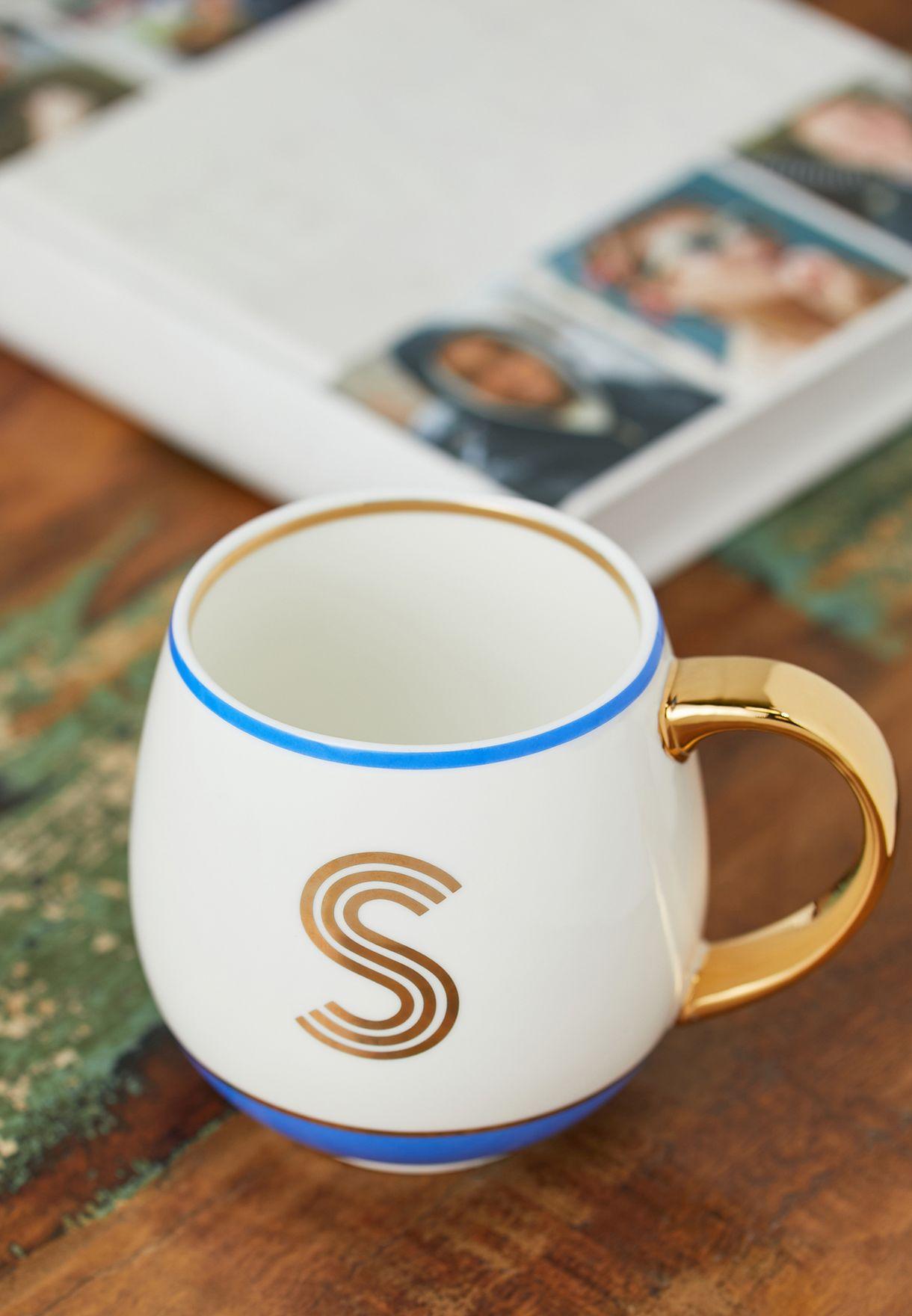 Initial S Mug