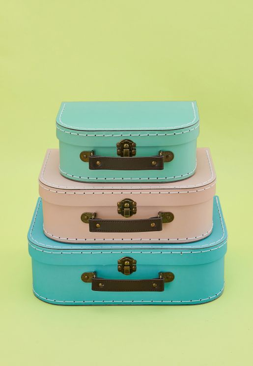 3 Pack Retro Suitcase