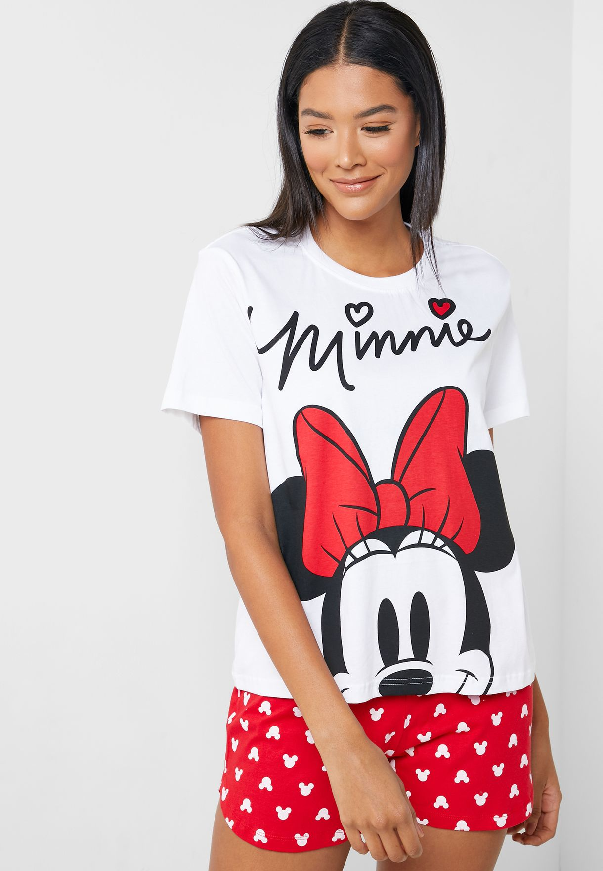Minnie Print T-Shirt & Shorts Set