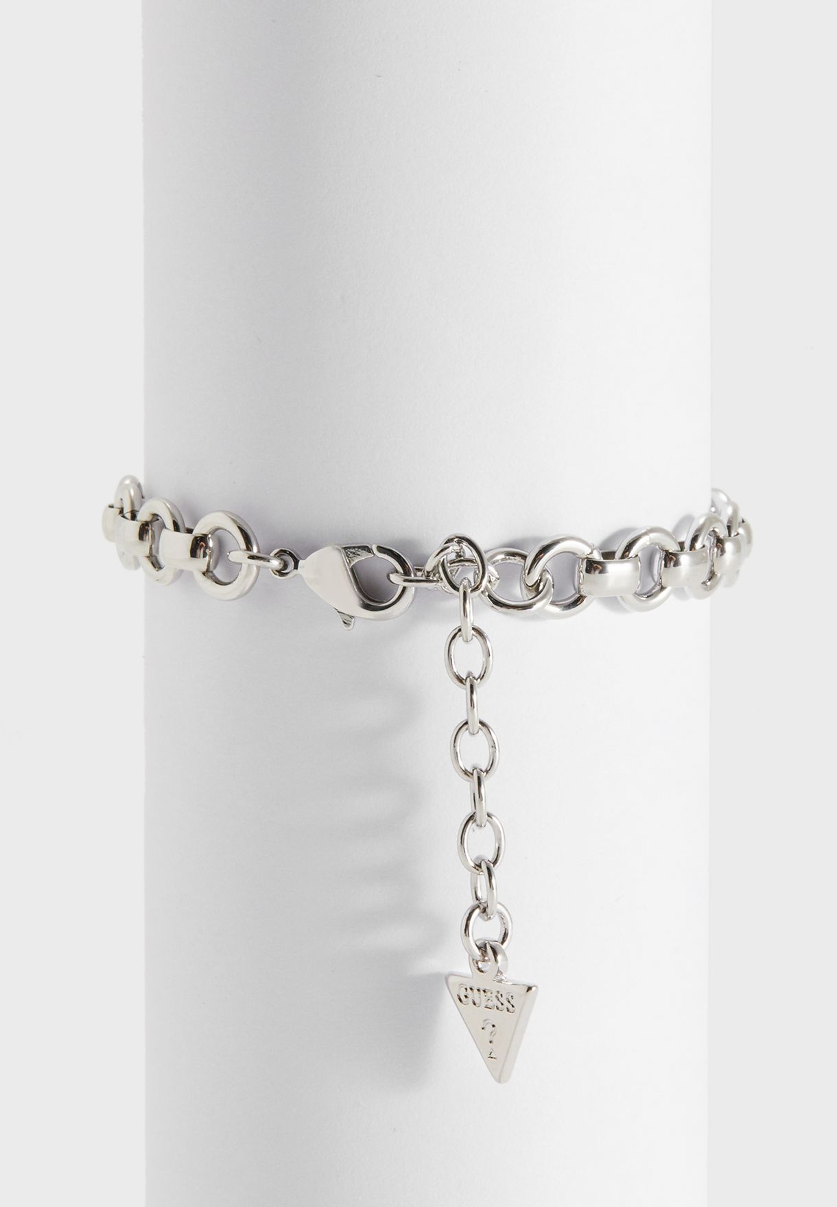 B-Big Chain Dble Hearts Bracelet