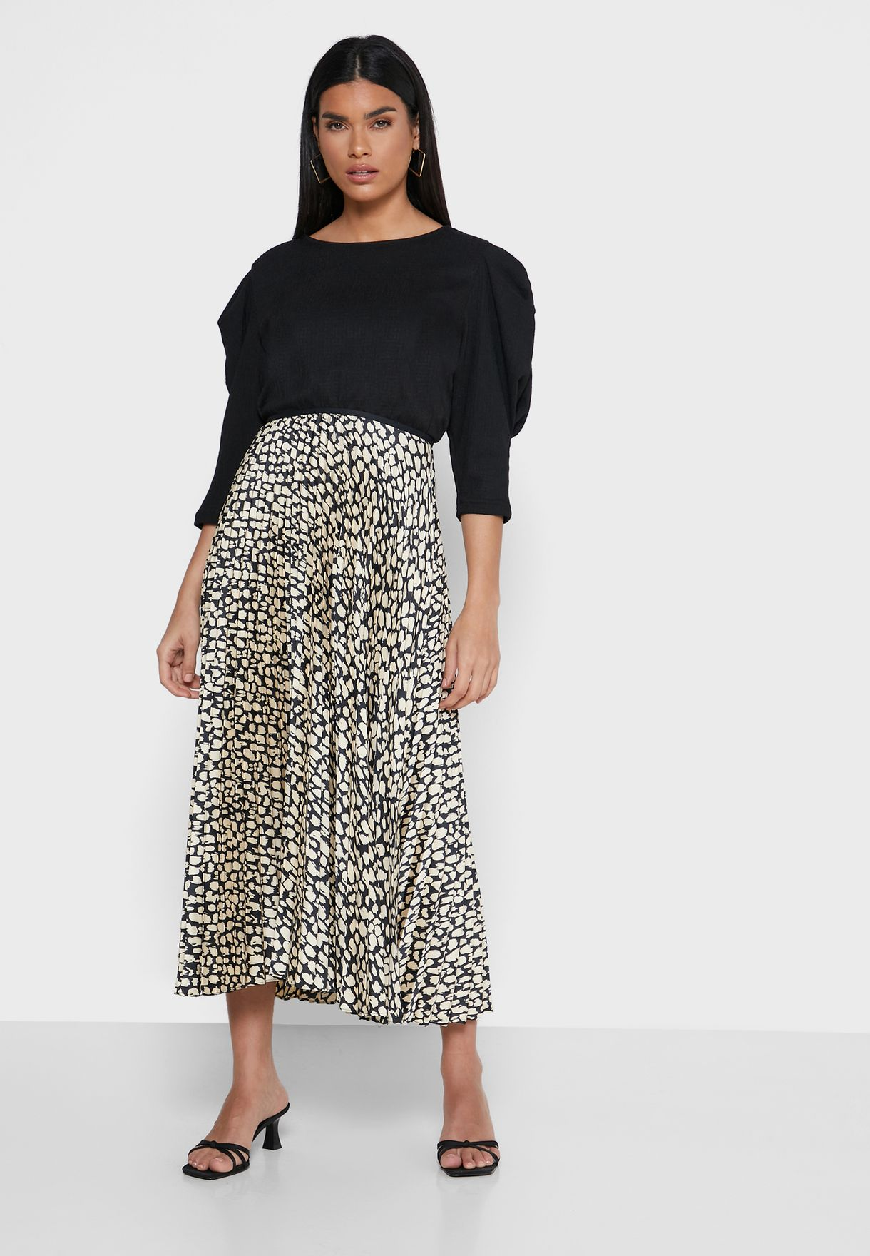 Mango Printed Plisse Skirt - Fashion