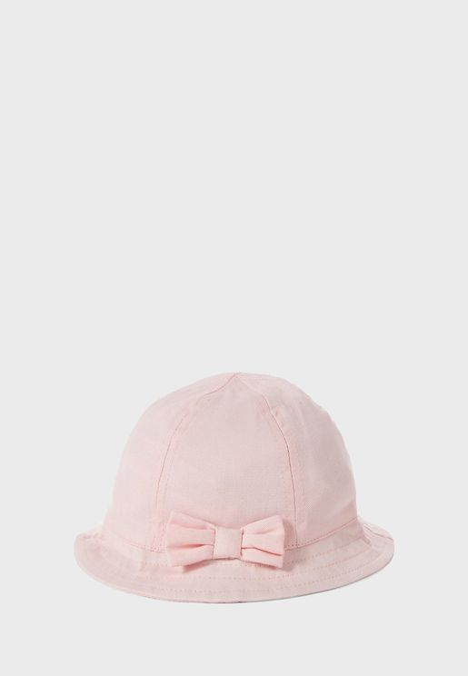 Kids Bow Detail Bucket Hat