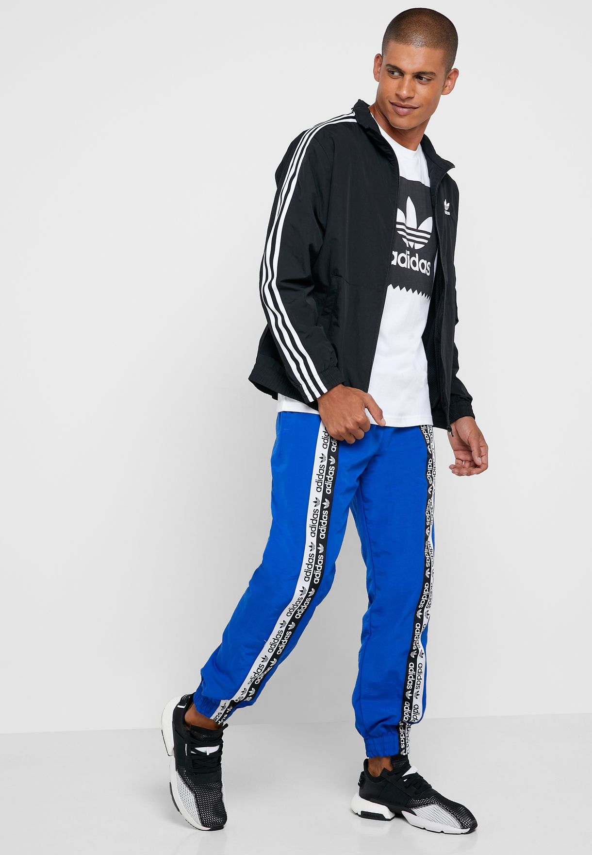 d4ec2ca27cfed Shop adidas Originals blue Vocal Sweatpants ED7143 for Men in UAE ...