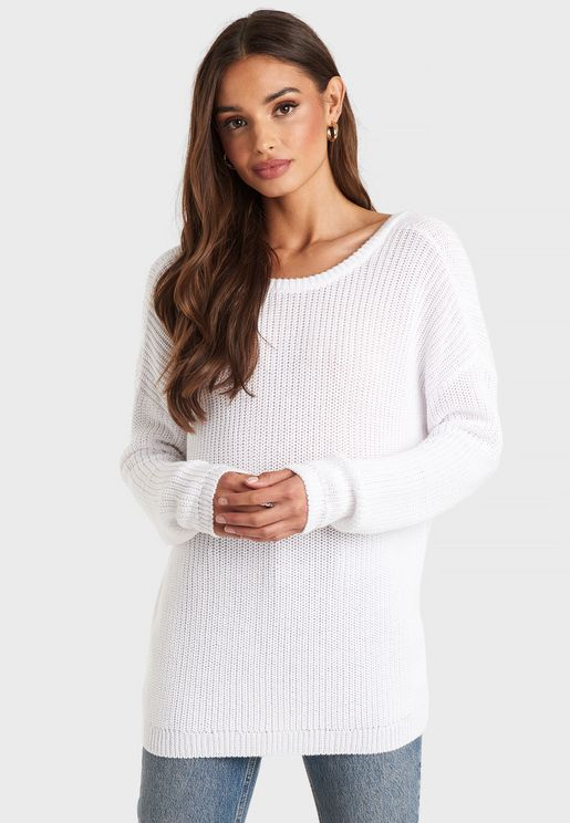 Knitted Longline Sweater