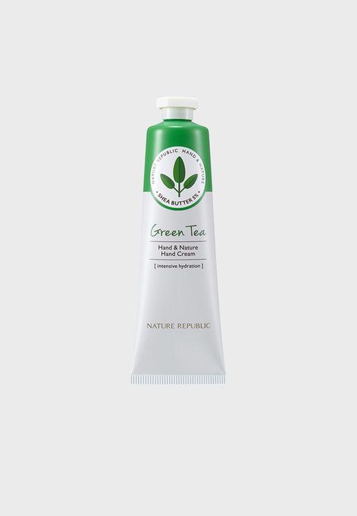 Hand & Nature Green Tea Hand Cream