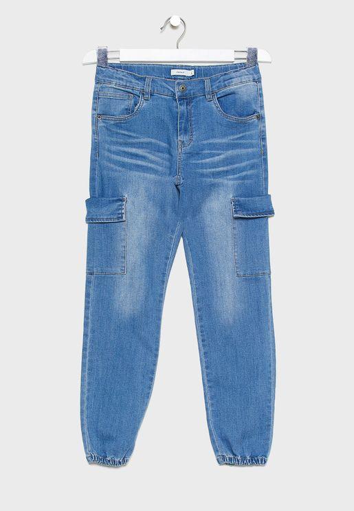 Kids Mid Wash Denim Jegg Jeans