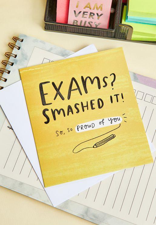 Exams? Smashed It! Card