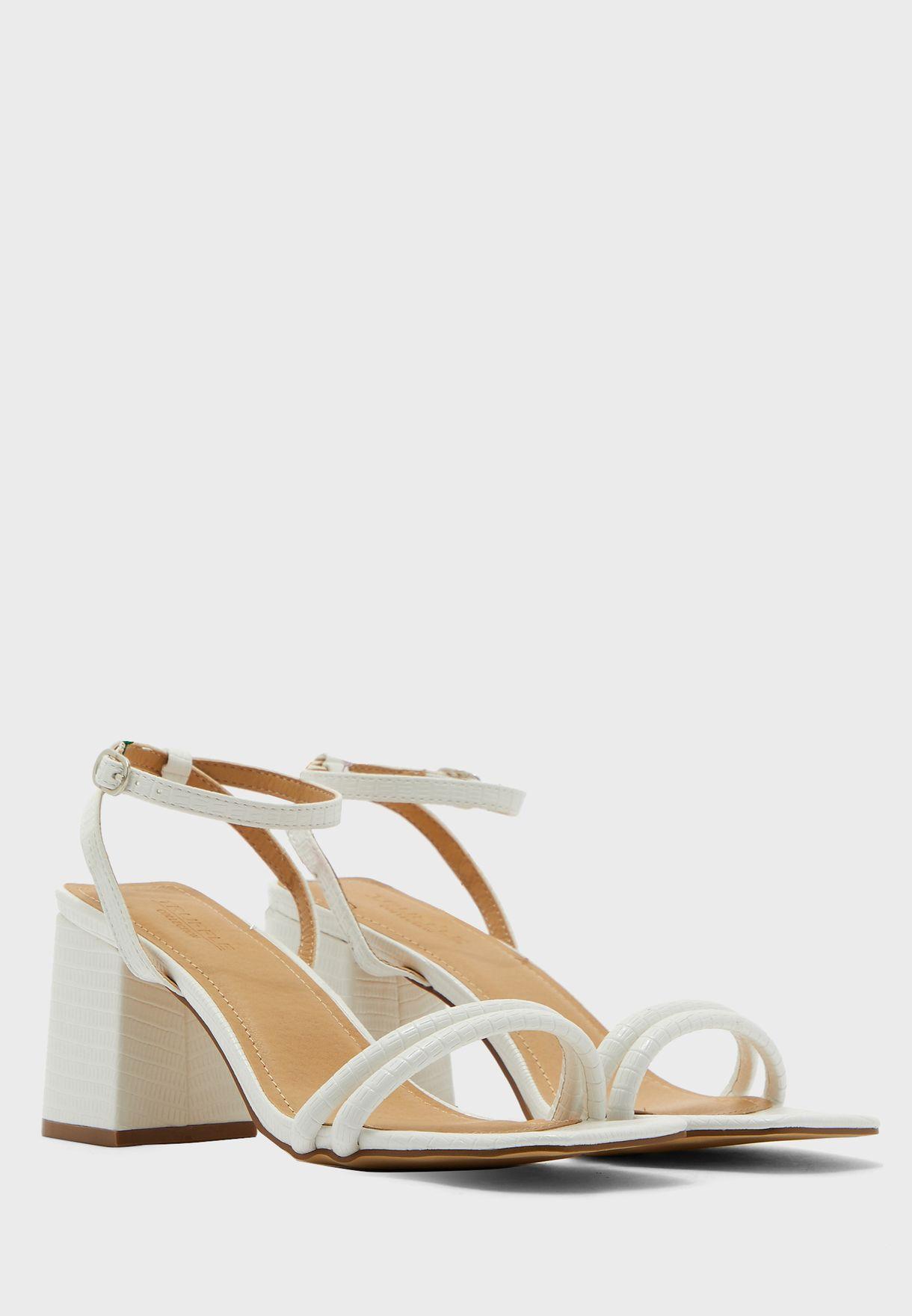 Block Heel Strappy Sandal