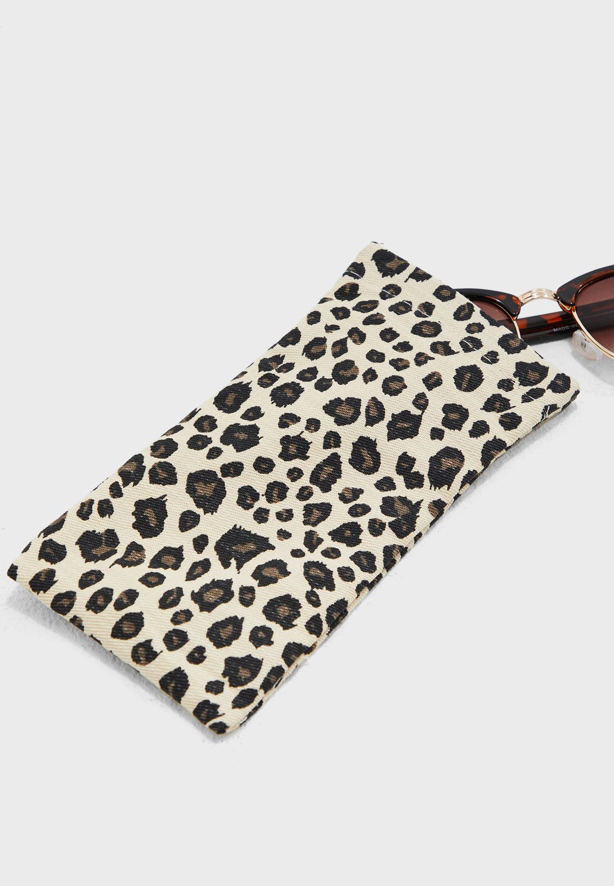 Leopard Print Sunglasses Case