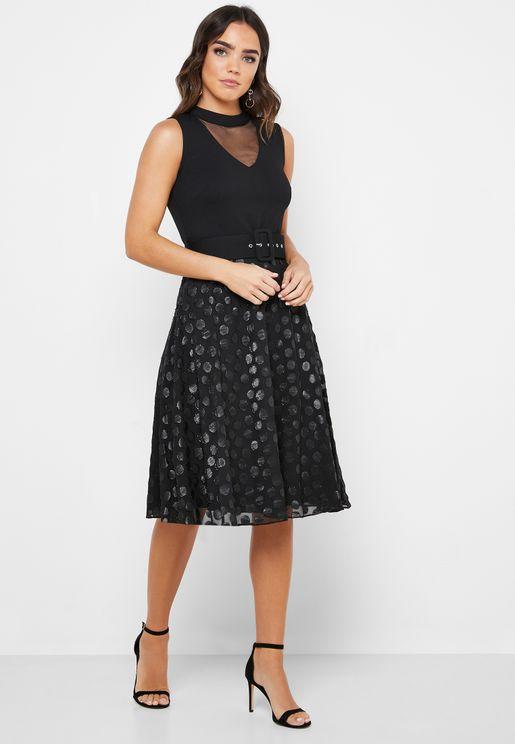 Guess Metallic Jacquard Party Dress, Silver Black price in Dubai, UAE | Compare Prices