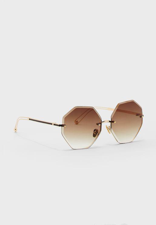 Oversized Hexagan Sunglasses