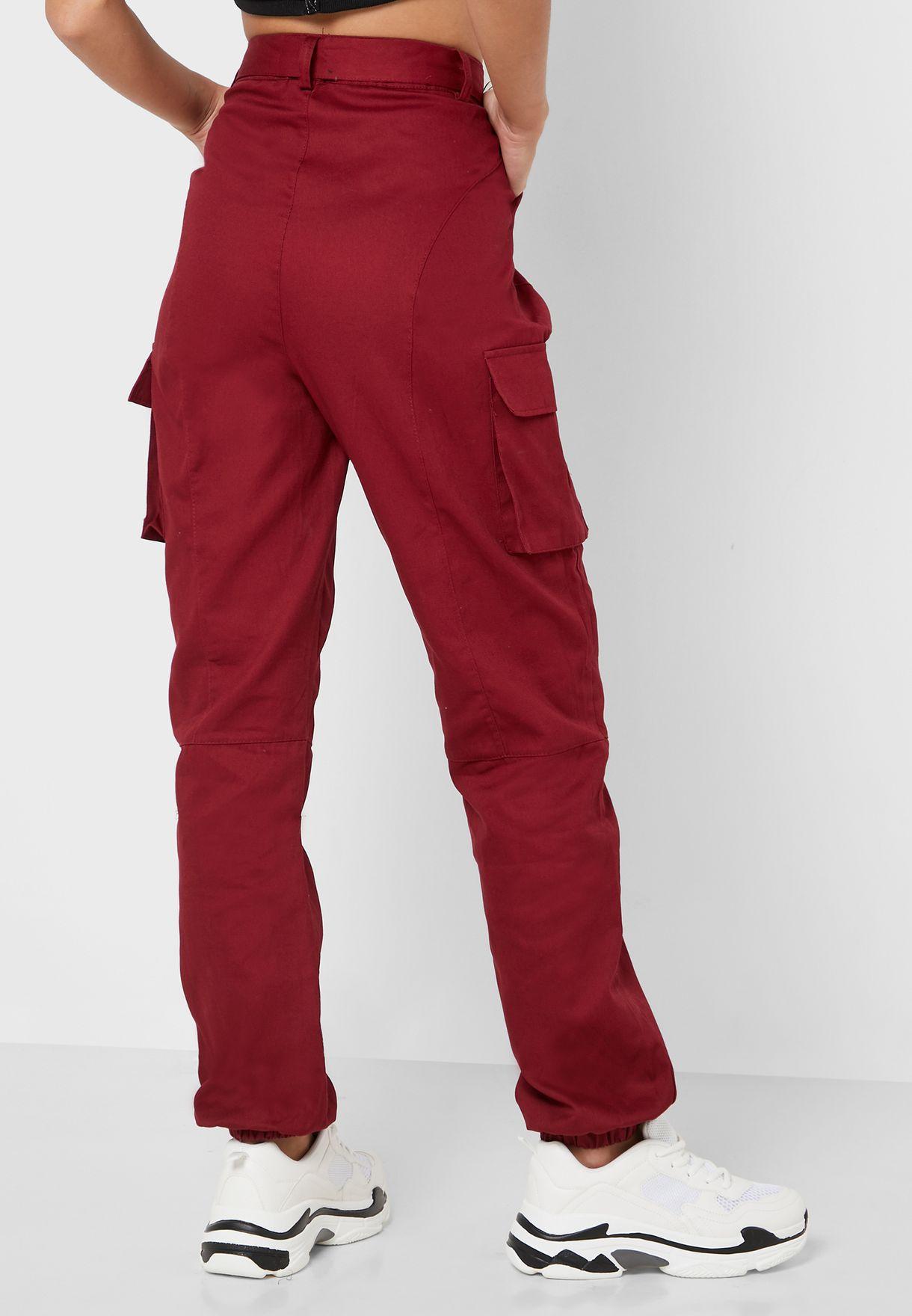 Belted Pocket Detail Pants
