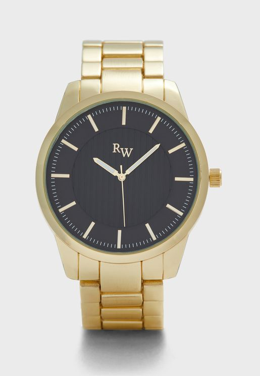 Metal Strap Analogue Watch