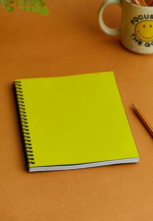 دفتر ملاحظات A5 مزين بوجه ضاحك