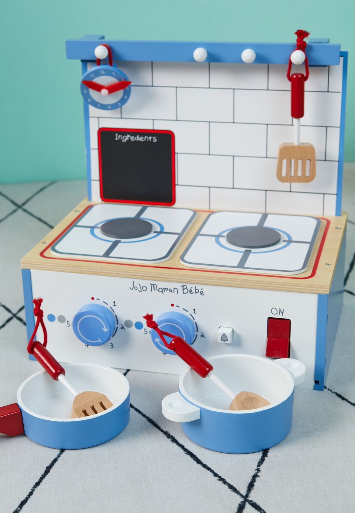 Wooden Table Top Kitchen Toy Set